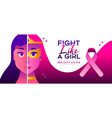 fight like a girl breast cancer awareness concept vector image