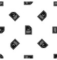 file txt pattern seamless black vector image vector image