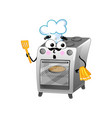 funny kitchen stove isolated cartoon character vector image vector image