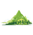 green mountains flat style composition isolated vector image