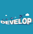 growthcorporate people and develop concept vector image vector image