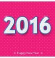 happy new year 2016 design vector image vector image
