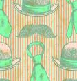 Hat Tie Mustache vector image vector image