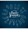 Hello Summer Blue vector image vector image