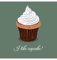 I Like Creamy Cupcake vector image vector image