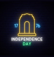 independence day india on 15th august neon vector image vector image