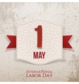 International Labor Day decorative Poster vector image