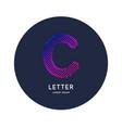 letter c latin alphabet display vector image vector image