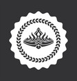 luxurious noble crown on round monochrome emblem vector image