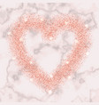 luxury pink gold glitter heart frame vector image vector image