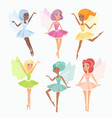 magic pixies flat set cute vector image vector image