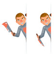maniac look out corner killer psychopath blood vector image vector image