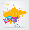 map asian countries asia states with names vector image