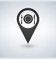 map marker location with fork plate and knife vector image vector image