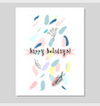 merry christmas unusual trendy vector image vector image