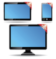 Monitor tablet vector image