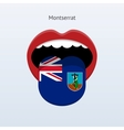 Montserrat language Abstract human tongue vector image vector image