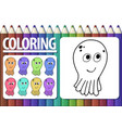 page of coloring book with contour cartoon vector image