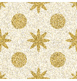 pattern with gold glitter textured circle and star vector image vector image