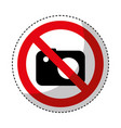 photographic camera with denied sign vector image vector image