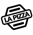 pizza black stamp vector image