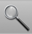 realistic 3d magnifying glass zoom lens vector image