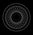 sacred geometry symbol of vector image
