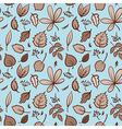Seamless autumn leaves texture pattern background