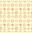 seamless background with orange doodle sun vector image vector image