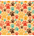 seamless pattern with animal paws vector image vector image