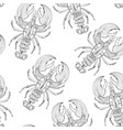 seamless pattern with lobsters vector image