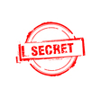 Secret offer rubber stamp on white vector image vector image