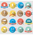 Set of color shopping shield retro vintage badges vector image vector image