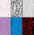 Set of seamless patterns curls vector image