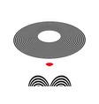 shop logo fashion woman company logo design vector image vector image