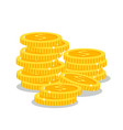 stacks golden coins vector image