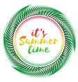 summer time design on white background vector image