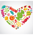 sweets candy heart vector image vector image