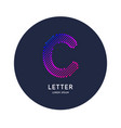 the letter c latin alphabet display vector image vector image