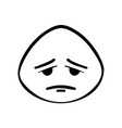 thin line sad face icon vector image vector image