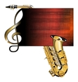 treble clef stave saxophone vector image vector image