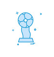 trophy winner icon design vector image vector image