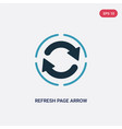 two color refresh page arrow button icon from vector image vector image