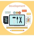 Web development instruments concept vector image