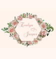 wedding horizontal floral invitation invite card vector image vector image