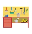 Working table with instrument vector image vector image