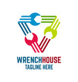 wrench house logo vector image vector image
