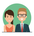 young people couple icon vector image vector image