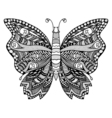 Zentangle stylized butterfly vector image vector image