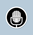 Retro microphone icon Device for lead Accessory vector image